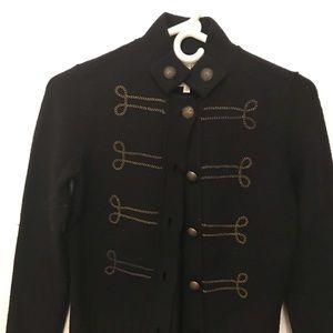 Military inspired cardigan